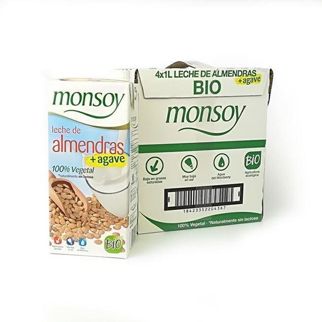 Foto de Caja de bebida de almendra con agave Monsoy eco 4 ud