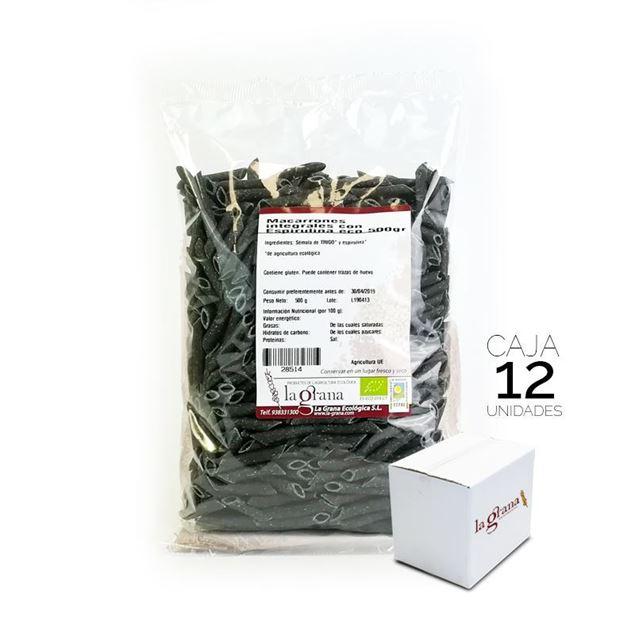 Foto de Caja de macarrones integrales con espirulina eco 6kg