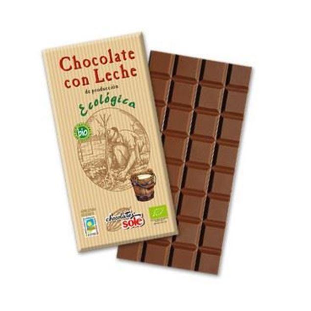 Foto de Chocolate con leche eco 100gr