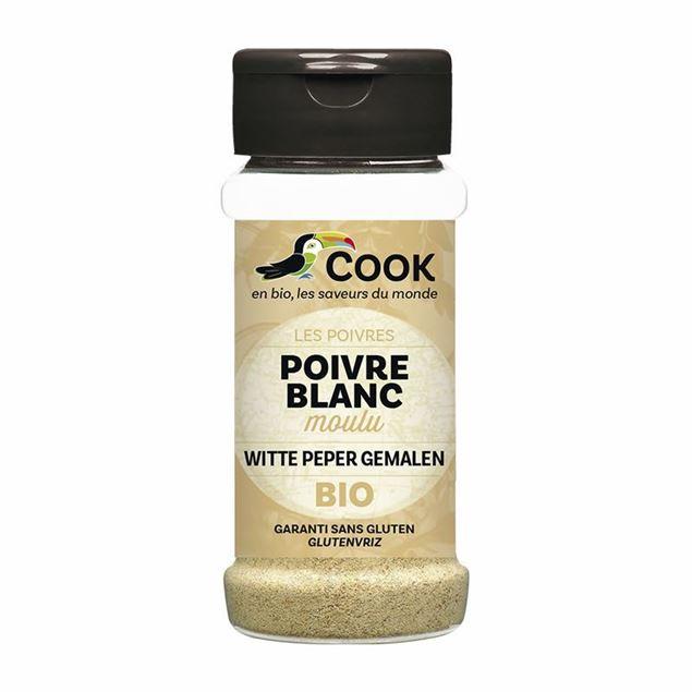 Foto de Pimienta blanca en polvo sin gluten eco 45g