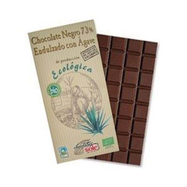 Foto de Chocolate negro 73% sin azucar con agave eco 100gr