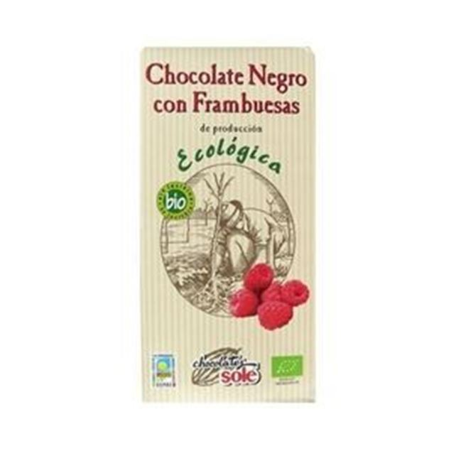 Foto de Chocolate Negro Frambuesas eco 100gr