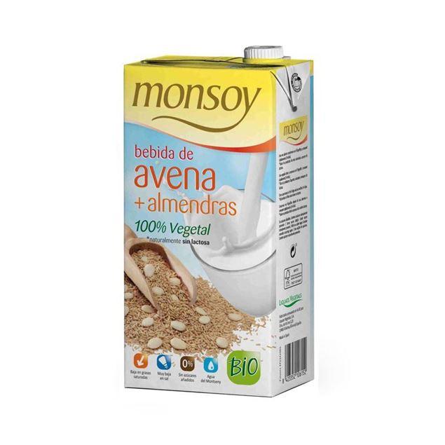 Foto de Bebida de avena y almendra Monsoy eco 1lt