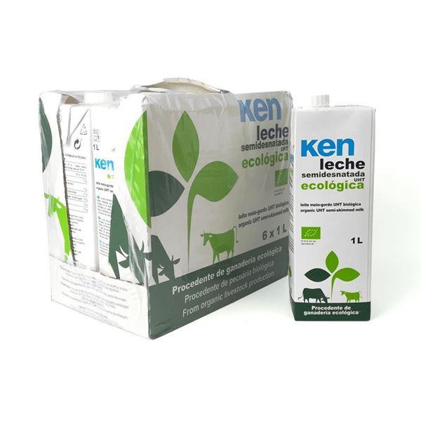 Foto de Caja de leche semidesnatada de vaca Ken eco 6 ud