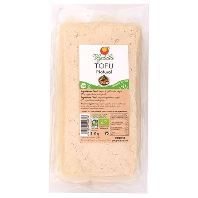 Foto de Tofu natural granel fresco eco 1kg Vegetalia