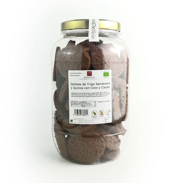 Foto de Galletas de Trigo Sarraceno con Coco y Cacao eco 1.1kg