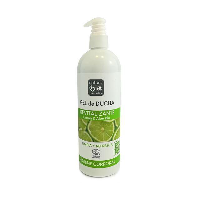Foto de Gel de ducha revitalizante limon y aloe vera NaturaBio 740ml