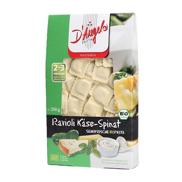 Foto de Ravioli con queso y espinacas eco 250gr